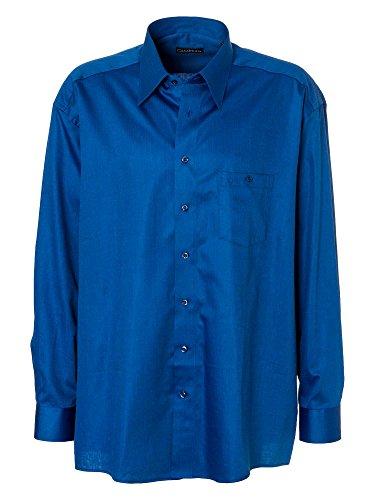 CASAMODA Herren Businesshemd Casual Fit bügelleicht Blau
