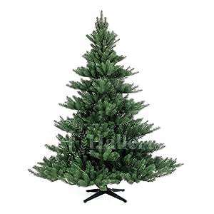 Original Hallerts Spritzguss Weihnachtsbaum Alnwick 180 cm Nordmanntannne - Christbaum zu 100% in Spritzguss PlasTip Qualität - schwer entflammbar nach B1 Norm, Material TÜV und SGS geprüft - Premium Spritzgusstanne