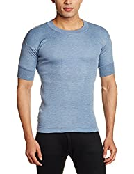 Rupa Thermocot Mens Cotton Thermal Top (8903978490212_AGNI R-N H-S -90_Blue)