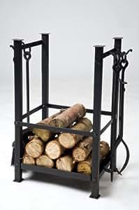 Erik Nordic fer forgé avec outils Panier à bûches pour cheminée