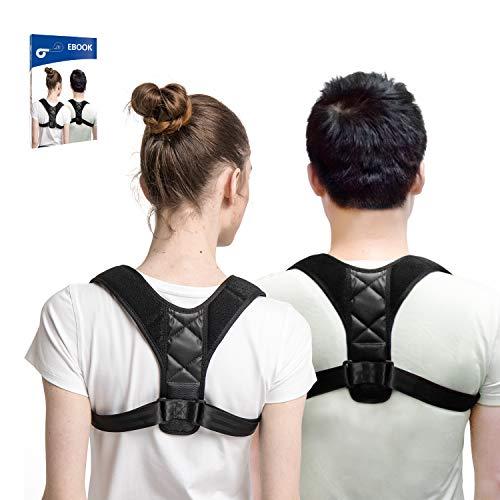 Hastrono Haltungskorrektur Geradehalter inkl.EBook für gesunde bessere Körperhaltung,ideal zur Therapie für haltungsbedingte Nacken, Rücken und Schulterschmerzen