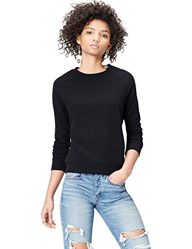FIND Felpa in Cotone Donna Nero (Black)