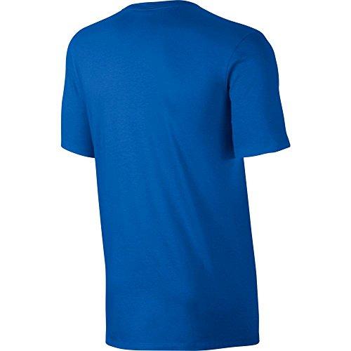 Nike Herren Club Embroidered Futura T-Shirt Mehrfarbig (Königsblau / Weiß)