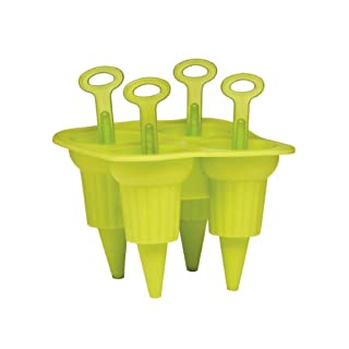 Gelatiera 4pc Ice Lolly Maker Made Of Lime Green TPR Material & Fabulous design