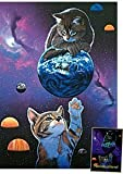M.I.C. 802.3 - Katzen mit Erde (Leuchtpuzzle) - Puzzle 1000 Teile