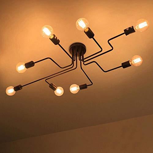 4 Light-anhänger Käfig (Vintage Industrie Pendelleuchten moderne LED Retro Käfig Lampen E27 Anhänger Schmiedeeisen Lampe Esszimmer Bar Shop Hängelampen, 4 Köpfe)