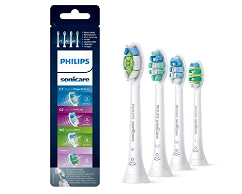 Philips Sonicare HX6005/17 Aufsteckbürsten Vielfaltpack, Plaqueentfernung, gesünderes Zahnflesich und weniger Verfärbungen, 4er Pack