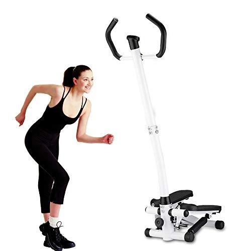 SHIOUCY Profi Heimtrainer Stepper Walking Body Sculpting Schöne Fitnessgerät max 100kg Side Stepper mit Handgriff, Mini-Stepper mit Haltegriff