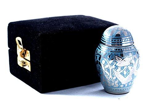 Urns UK - Urna de metal, color pantalla funeraria Urns en casa o en nicho en Columbario (7.62cm)