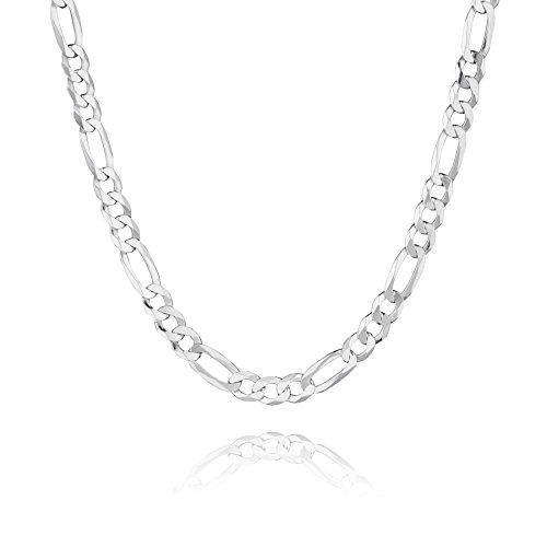 STERLL Herren Silberkette Echt Silber 55 cm Ohne Anhänger Geschenkverpackung Geschenk für Männer
