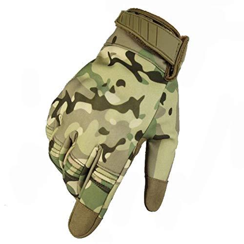 RZRCJ Winddichte Militärische Taktische Handschuhe Touchscreen Outdoor Sports Camouflage Radfahren Skifahren Warme Handschuhe for Wandern Klettern Atmungsaktiv (Color : CP, Size : L)
