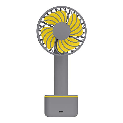 Dtuta Hand-Held, with Floor Mat, Strong Wind, Cool USB Gadgets/USB Fans Small Fan with Power Supply Activated Carbon Filter
