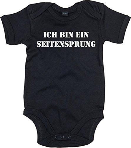 ShirtShop-Saar Ich Bin EIN Seitensprung; Babybody; schwarz; Gr. 080/086; 12-18 Monate