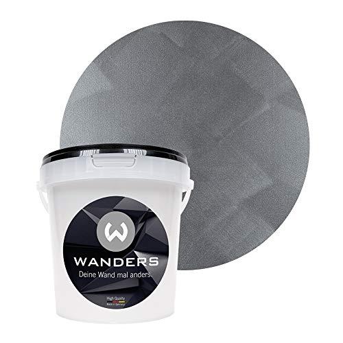 Wanders24 Tafelfarbe Metallic-Grau (1 Liter) metallisch glänzende Wandfarbe in 4 Farbtönen, individuelle Gestaltung für Zuhause, Made in Germany -