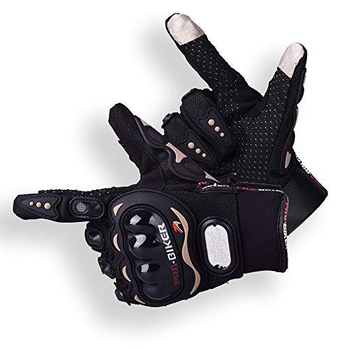Ritte Motorrad handschuhe Herren, Wasserdichte Touchscreen-Handschuhe Sport Leder Motorrad Winterhandschuhe Für Motorradfahren Handschuhe Motorrad Radfahren Camping Outdoor-Einsatz, Schwarz (L)