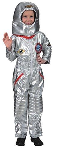 O5214-128 silber Kinder Astronautenanzug Astronautenkostüm ()