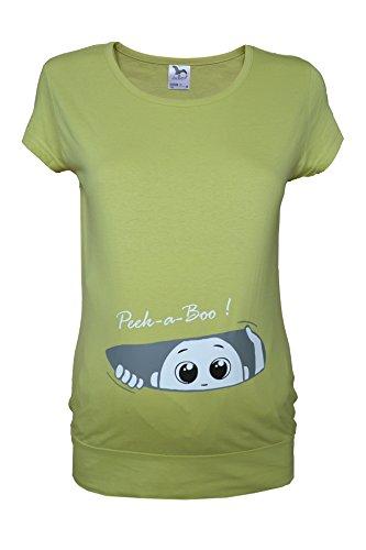 Colour Fashion T-shirt grossesse en coton Blanc/noir/bleu ciel/bleu canard/vert Taille S-XXL green