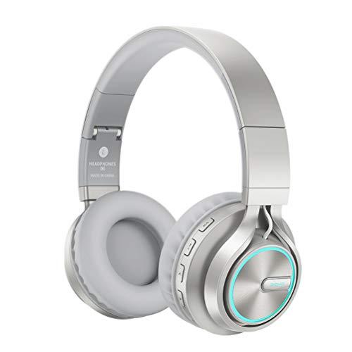 Bluetooth-Headset Leuchtend Faltbarer kopfmontierter Musik-Subwoofer Faltbarer Gaming-Kopfhörer mit Mikrofon-Support-Tf-Karte,D