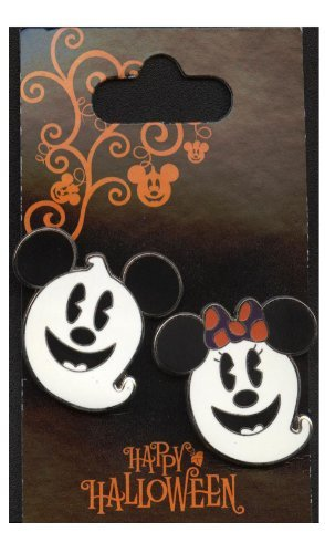 Pins - Halloween - Mickey Mouse und Minnie Mouse als Geister - Pin 72103