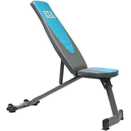 Dtx Fitness Folding Weight Bench Blue Grey Best Fitness