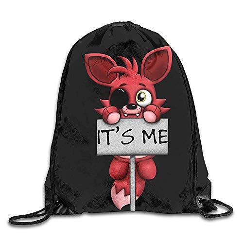 JMAKI FNAF Plush Foxy Gym Drawstring Backpack String Bag Turnbeutel Hipster Sporttaschen,Unisex Gym Sack Beutel Totem Geometrisches Muster Sportbeutel Tüte Rucksack mit - Foxy Hipster