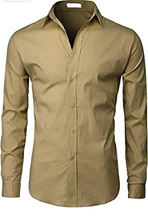 LIBAS TAILOR ROYYD Men's Cotton Casual Shirt (Dark Green, 36)