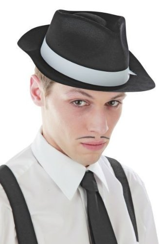 Foxxeo 10031 |20er Jahre Mafiahut Gangsterhut, (Motto Mafia Kostüme)
