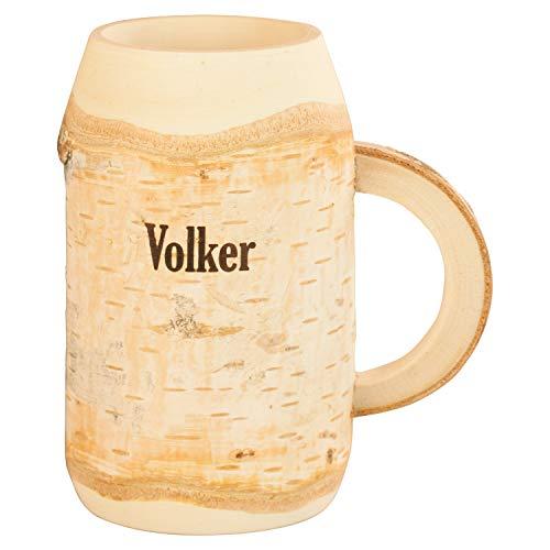 Holz Bierkrug mit Gravur 0,4l - Geburtstagsgeschenke mit Namen für Bier - personalisierte Geschenke für Männer, Väter, Freund - Geschenk Unikat