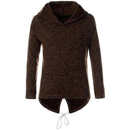 BEZLIT Mädchen Kapuzen Pullover Pulli Langarm Hoodie Sweat-Shirt 21646, Farbe:Braun, Größe:116 (Hoodie Kinder Braun)