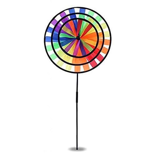 MagiDeal DIY Windmühle Magic Wheel Windrad Windräder Haus Garten Hof Dekoration - Biene / Delphin / Kreise Windmühle - # C