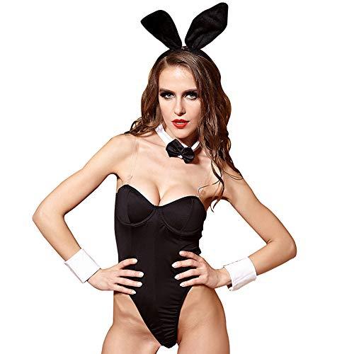 CYYMY Damen Kaninchen Häschen Mädchen Cosplay Tragen Uniform Kostüm Einstellen Anzieh Teddy Dessous Kostüm Schlafanzug Bunny Girl