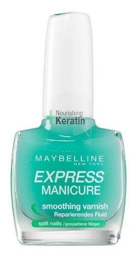 Maybelline New York Make-Up Nailpolish Express Manicure reparierendes Fluid / Nagelhärtendes Fluid für gespaltene und empfindliche Nägel, 1 x 10 ml