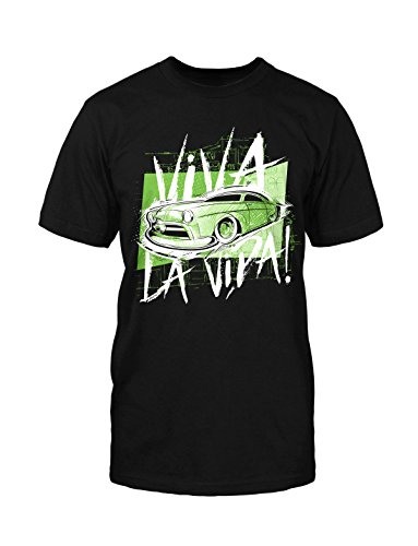 Viva La Vida T-Shirt Neu Fun Rockabilly Car Hot Rod Oldtimer Old School Vintage Schwarz