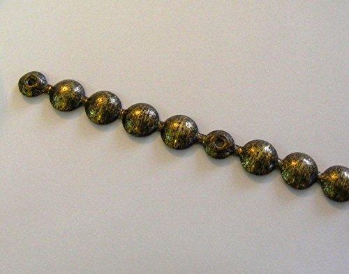 10 Stck Ziernagelstreifen a 1 mtr. Ø=9,5mm 1001/3 altgold gefleckt