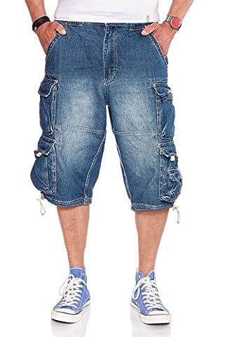 JET LAG Herren Denim Cargo Shorts Modell 007, Farbe:Light navy;Größe:L