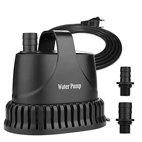 NO.17 Tauchpumpe Wasserpumpe 20W, 1200 L/H Aquarium Pumpe Ultra-Quiet Teichpumpe Unterwasser für Teich, Gartenbrunnen Aquarium