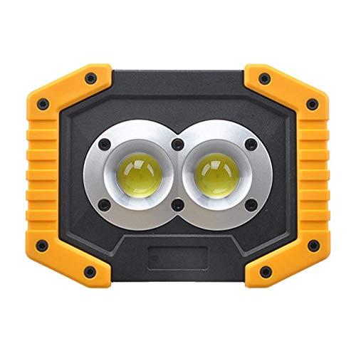 jezmiSy, tragbare Beleuchtung, Notfall-Campinglampe, Outdoor, hohe Helligkeit, COB-Taschenlampe, wiederaufladbar - ohne Akku W839