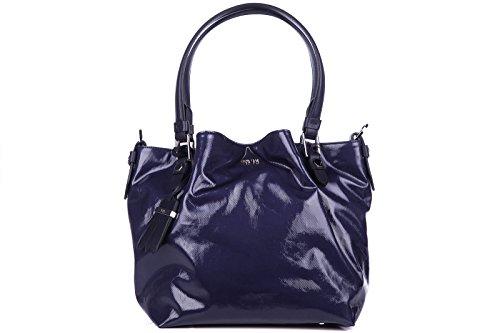 Tod's borsa donna a spalla shopping nuova originale blu