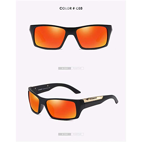 JYTBD Sport Outdoor-Produkte/Persönlichkeit Sonnenbril Polarisierte Sonnenbrille männer Fahren Shades männlichen Retro Sonnenbrille für männer Sommer Spiegel Mode (Color : NO3, Size : Polarized 186) - Taos Spiegel