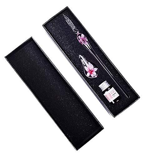 SEGRJ Glasstift, Kunstkristall, Unterschrift im Inneren der Blume, zum Schreiben von Kunst-Dekoration, Geschenk Einheitsgröße Rose