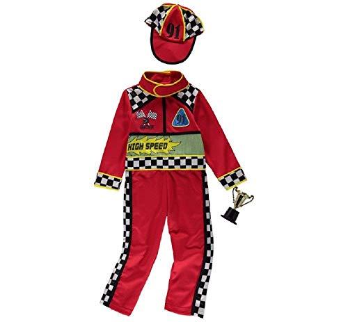 George CAR Race Driver Trophy Kostüm 7-8 Jahre Geburtstag Motto-Party Jungen Mädchen (Race Car Driver Kostüm Kind)