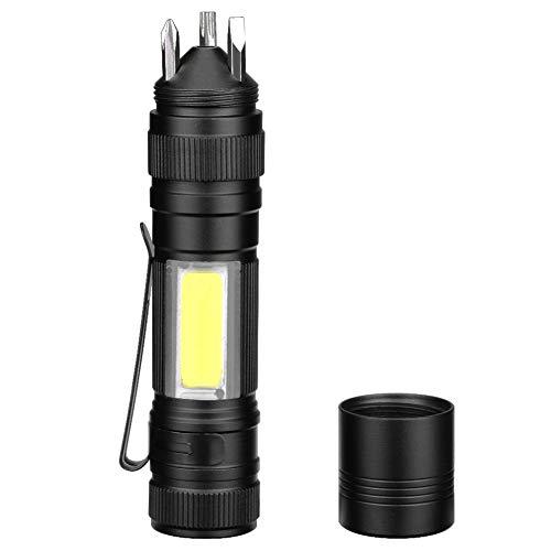 SH-Zak Miller Arbeitslicht Tragbare COB LED-Taschenlampe Mit Schraubendreher 3 Modi Taschenlampen-Werkzeuge Leuchten LED-Taschenlampe (AA-Batterie) (Läufer Strobe)
