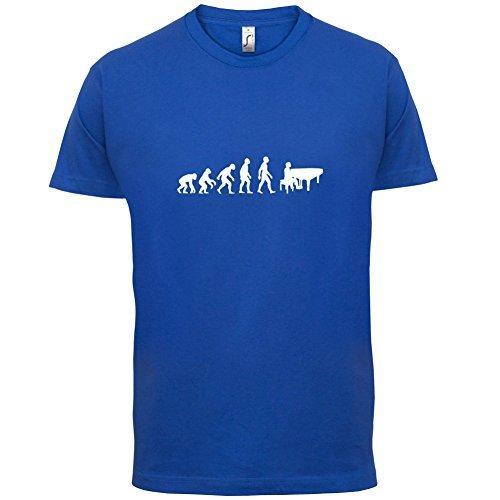 Evolution of Man - Klavier - Herren T-Shirt - 10 Farben Blau
