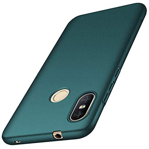 SHIEID Xiaomi Mi A2 Lite Hülle FederLeicht Premium Hart-PC ultradünner Telefonkasten ultradünner Antikollisions-Kratzerschutzabdeckung für Xiaomi Mi A2 Lite-Sand grün
