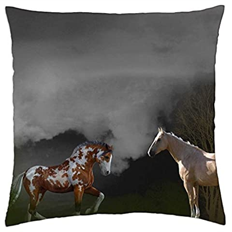 iRocket - horse romance - Throw Pillow Cover (24