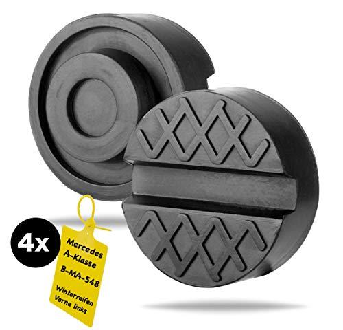TK Gruppe Timo Klingler Wagenheber Gummiauflage bis 3,5 T stabil & universal nutzbar für Reifenwechsel mit 4X Reifenmarkierer (1x)