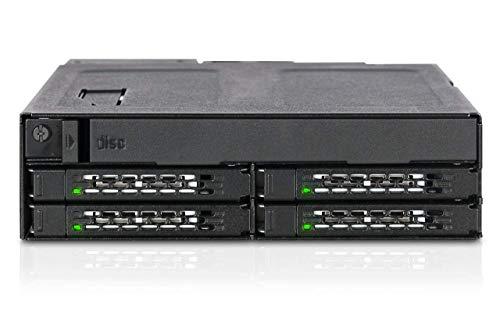 ICY Dock 4 x 2,5 SAS & SATA SSD/HDD & (Ultra) Slim ODD Backplane Cage – Tougharmor MB604SPO-B