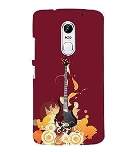 Music Guitar 3D Hard Polycarbonate Designer Back Case Cover for Lenovo Vibe X3