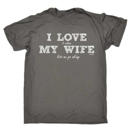 123t Men's - I LOVE IT WHEN MY WIFE LETS ME GO SKIING - Loose Fit T-shirt
