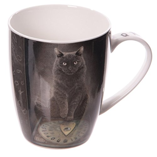 Dark Dreams Magie Fantasy Hexe Ouija schwarze Katze black cat his masters voice Tasse Mug Becher Lisa (Kostüm Cat Hexe)